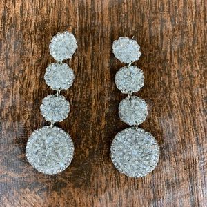 Roni Blanshay Jewelry - Roni Blanshay Crystal Rock Drop Disc Earrings